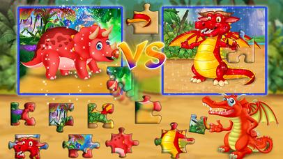 Dinosaur vs dragon: Puzzle screenshot 2