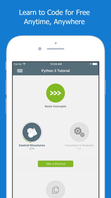 Screenshots of Learn Python for iPhone