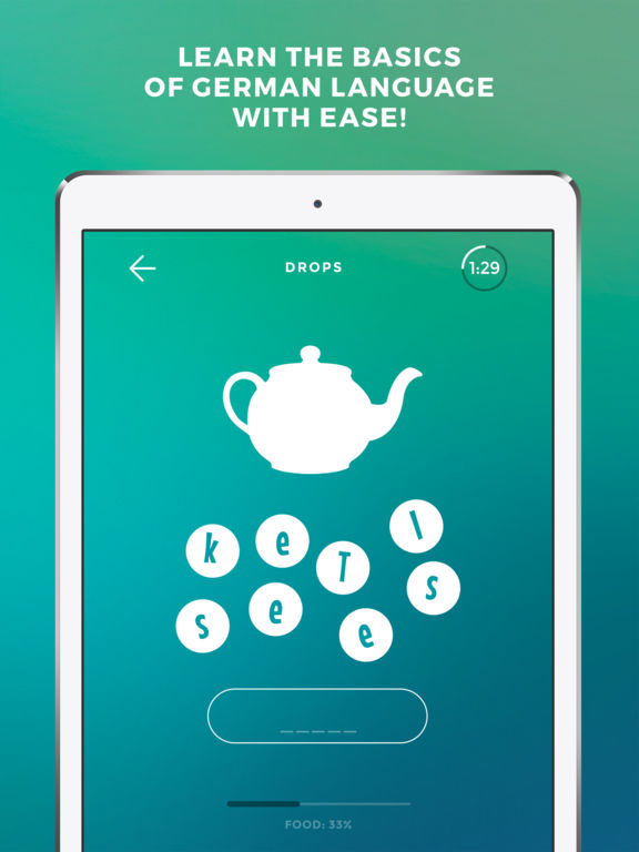 Screenshot #1 for Learn German language & words with Drops
