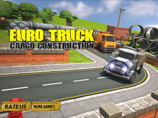Euro truck cargo construction screenshot 7