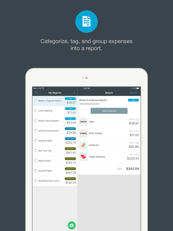 Expensify screenshot 8