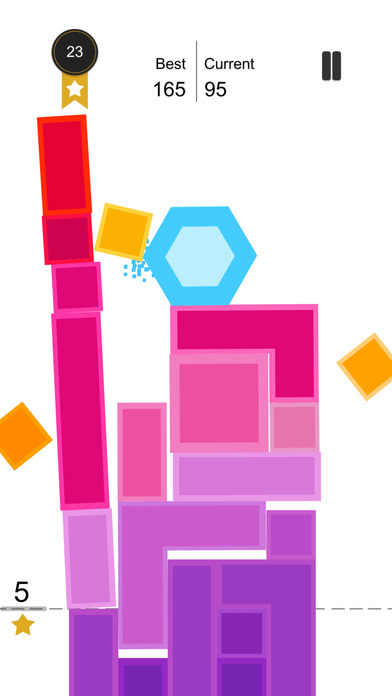 Tap Falling:Crush the tower of blocks screenshot 2