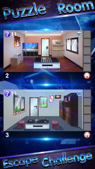 Puzzle room escape challenge game guest house app for Escape puzzle