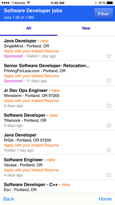 iphone screenshot 2 - Indeed Find Resumes