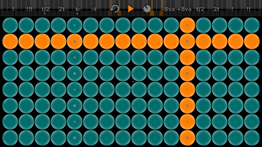 Arpeggionome for iPhone | matrix arpeggiator Screenshots