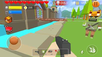 Pixel shooting zombie screenshot
