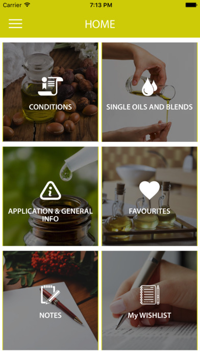 Essential Oils Reference Guide App screenshot 1