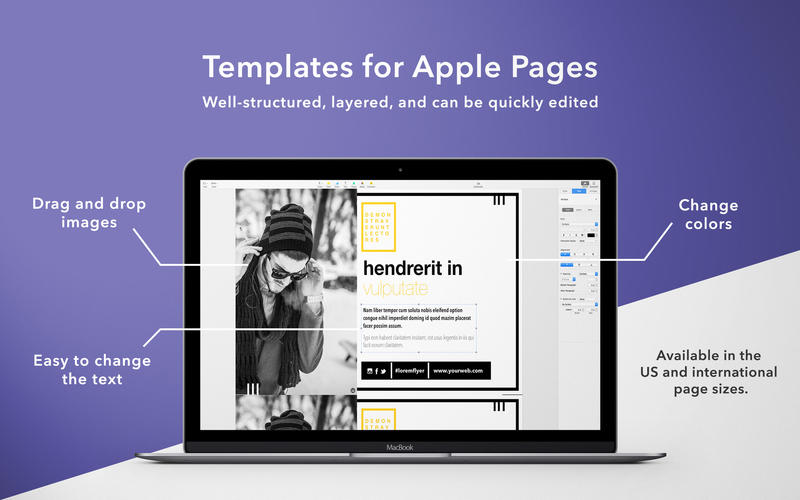 Flyers for Pages – Templates Bundle for Mac 1.4 激活版 – 精美的Pages模板合集-麦氪派