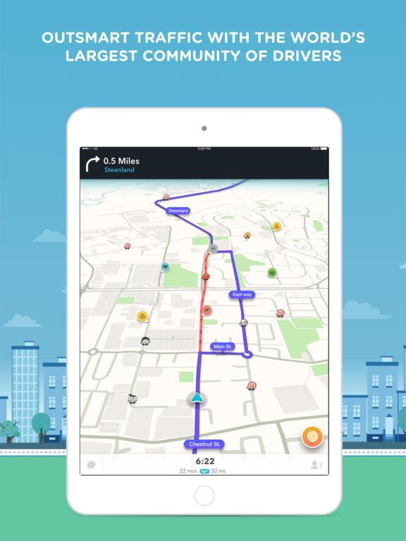 Waze social GPS traffic & gas screenshot 6