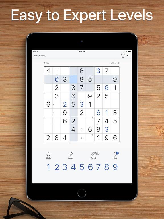 Screenshots of Sudoku - Classic Logic Game for iPad
