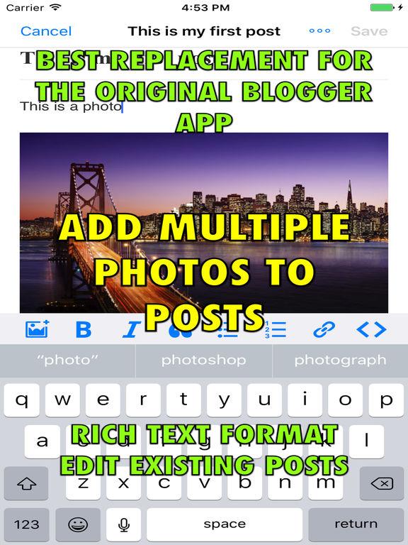 Blog Manager for Google Blogger (Blogspot) Screenshots