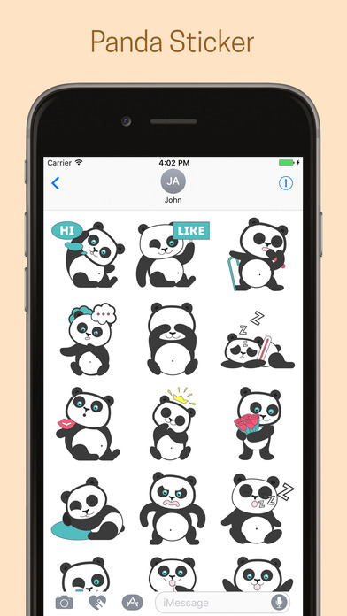 Panda Emoji Stickers - Pack screenshot 2