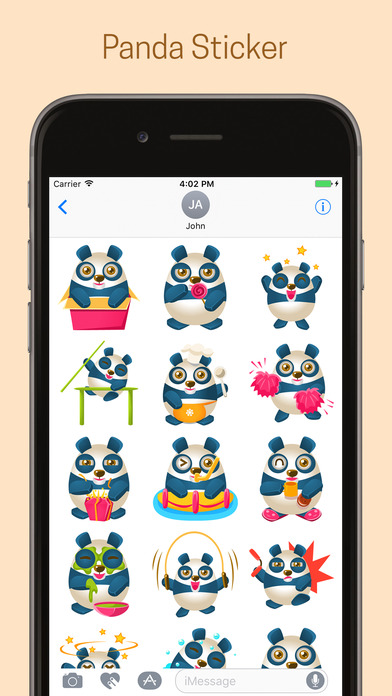 Panda Emoji Stickers - Pack screenshot 1