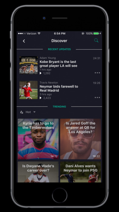 Screenshot of Gametakes: Start your own sports podcast App