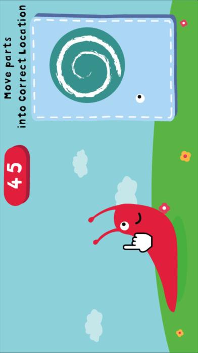 动物部位建立-认知拼图小游戏 screenshot 2