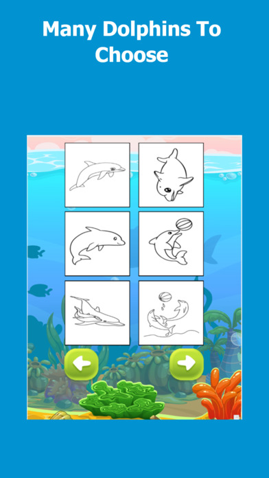 Coloring Dolphin Game screenshot 2