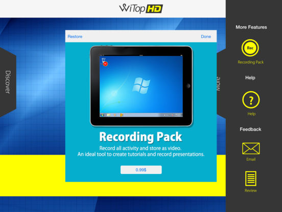 WiTop HD - High Speed Remote Desktop Screenshots