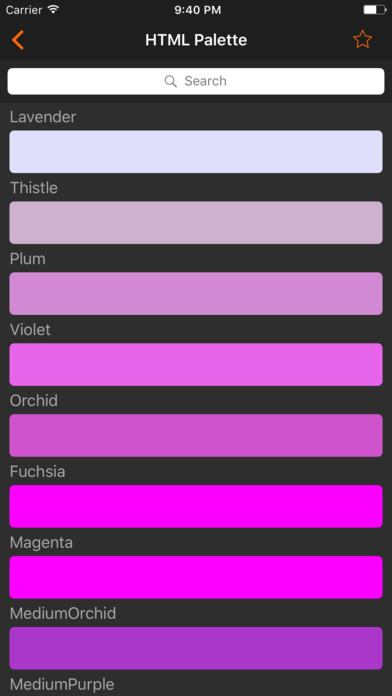 HTML Color codes. WEB Palette screenshot 2