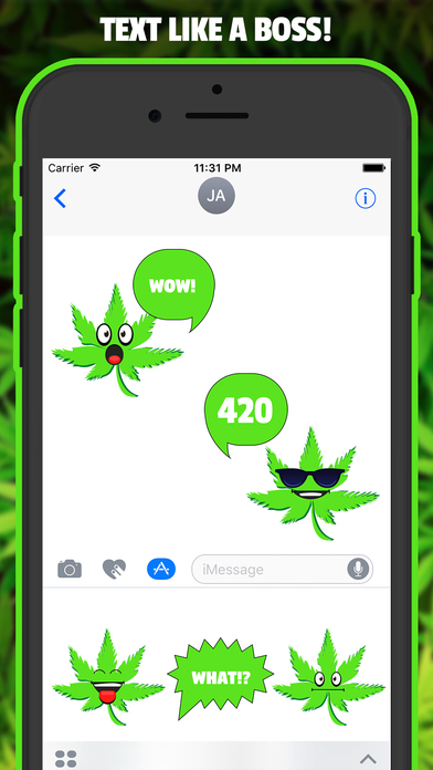 HighEmoji - WEED Stoner Emoji Stickers App screenshot 2