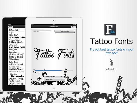 Tattoo Fonts - design your text tattoo Screenshots