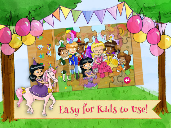 Princess Birthday Puzzles Gold Screenshots