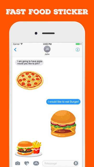 Fast Food Stickers For iMessage screenshot 3