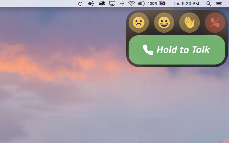 Roger - Push to Talk Video Chat for Mac