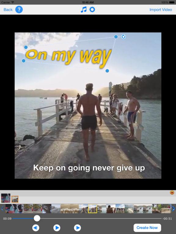 TextVideo - Text on Video Screenshots