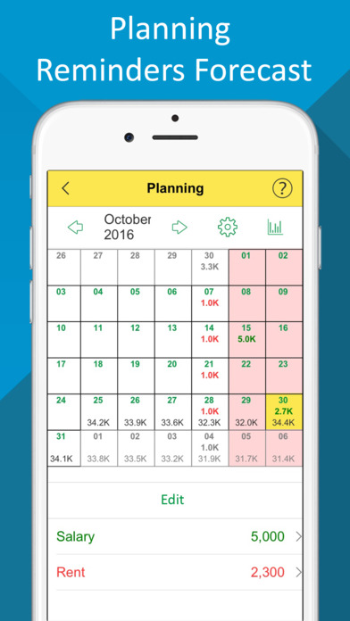 Budget~ Expense Tracker,Bill Reminder,Debt Manager Apps free for iPhone/iPad screenshot