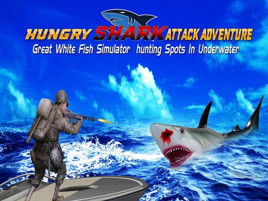 Flying Hungry Shark Attack Limbo Adventure-ipad-0