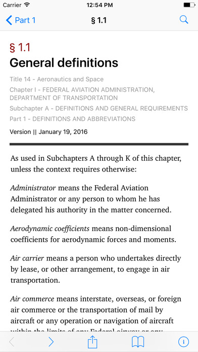 Aeronautics and Space (Title 14 Code of Federal Regulations) iPhone Screenshot 2