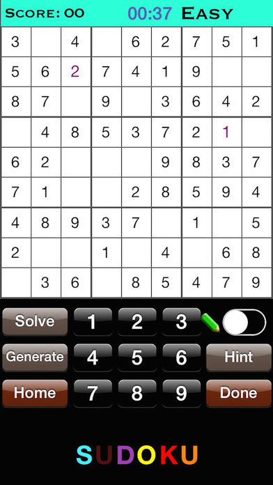 Sudoku - Classic Version Cool Sudoku Game Screenshot