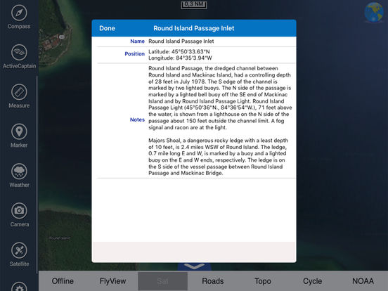 Michigan HD - Water Map Navigator iPad Screenshot 4