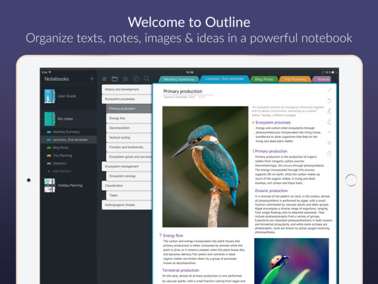 Outline – notes with better organization Screenshots