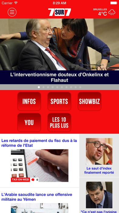 7s7.BE Mobile iPhone Screenshot 1
