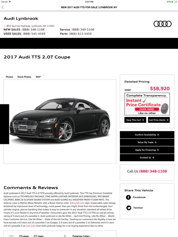App Shopper Audi Lynbrook Dealer App Lifestyle