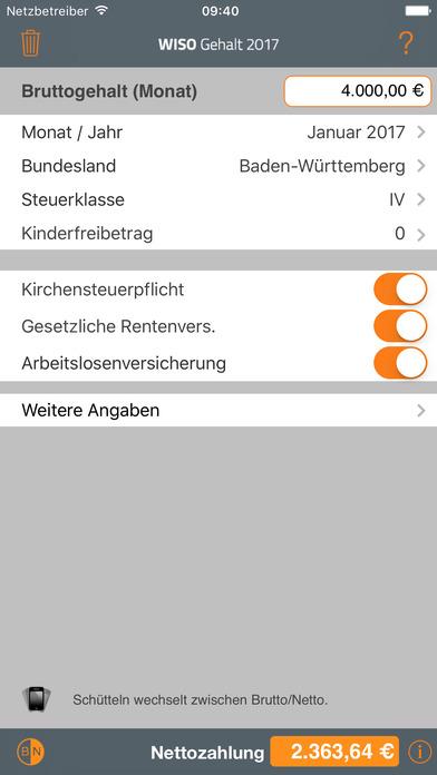 WISO Gehalt iPhone Screenshot 1