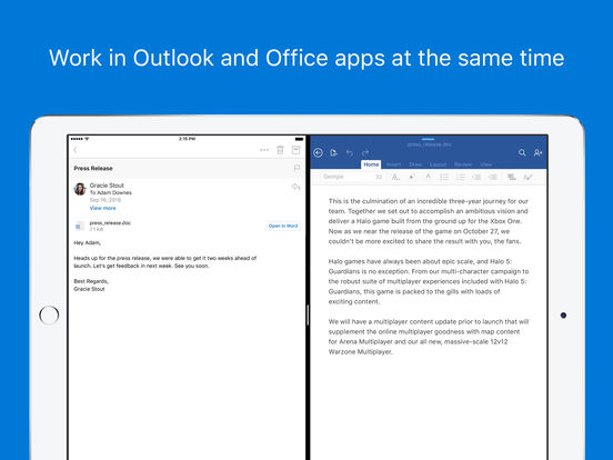 Microsoft Outlook - email and calendar Screenshots