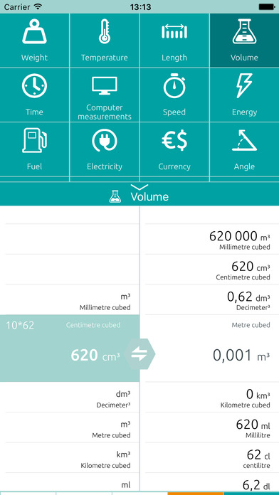 Universal converter free: Converts all units of measurement iPhone Screenshot 4