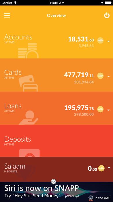 Mashreq UAE iPhone Screenshot 3