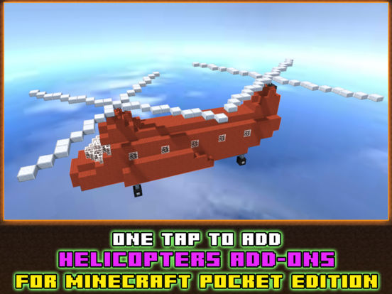 Helicopter Addons for Minecraft Pocket Edition PE Скриншоты5
