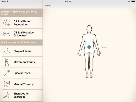 Clinical Pattern Recognition: Low back pain Screenshots
