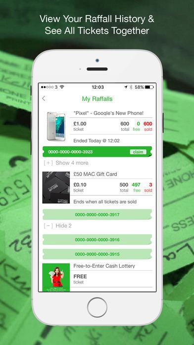 Raffall - Enter Raffles or Win Free Cash Lottery! iPhone Screenshot 3
