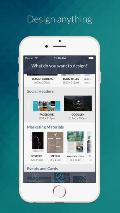 App shopper publisher maker logo icon flyer design for Blueprint maker app