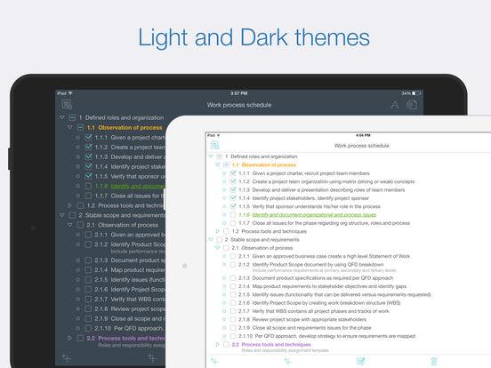 Cloud Outliner 2 Pro: Outline your Ideas & Plans Screenshots