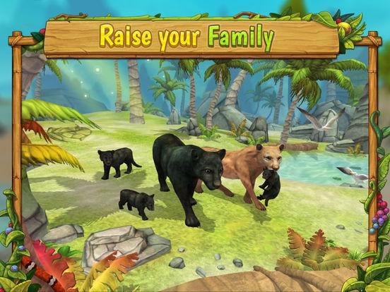 Panther Family Sim - Wild Animal Jungle Simulatorscreeshot 1