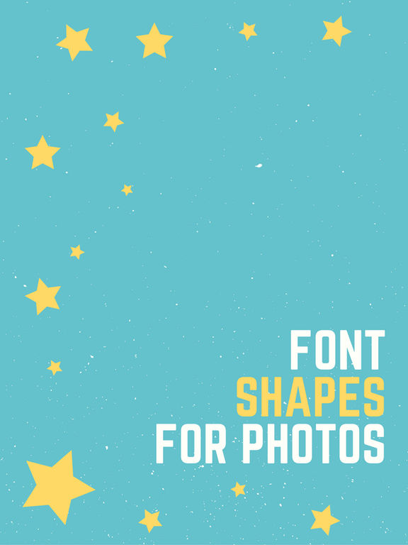 Font Shapes for Photos Screenshots