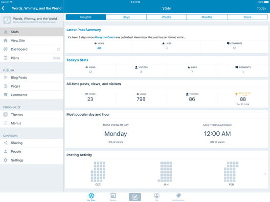 WordPress iPad Screenshot 5