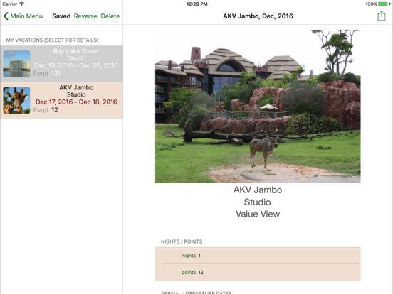 DVC Planner iPad Screenshot 2