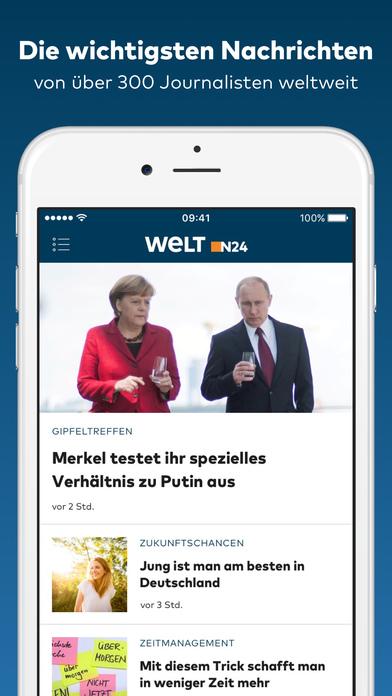 WELT News - Aktuelle Nachrichten iPhone Screenshot 1